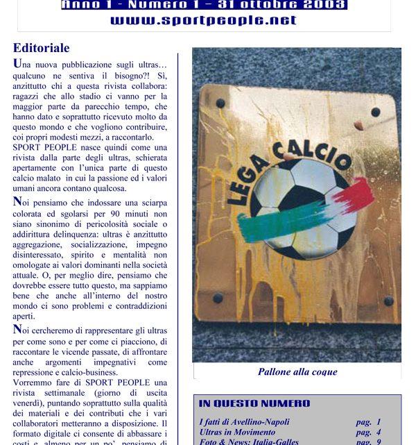 Copertina n° 2003-01
