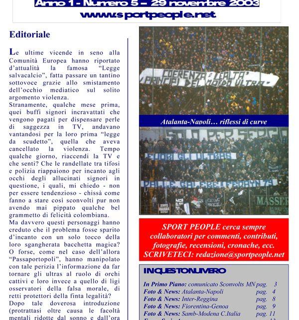 Copertina n° 2003-05